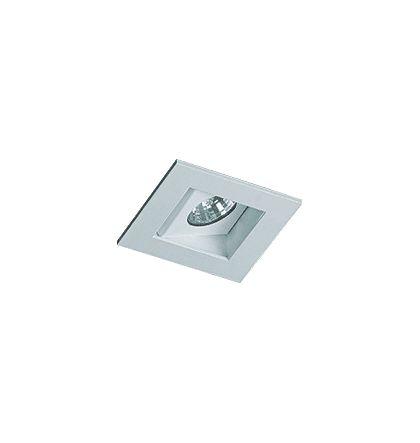 Embutido para Mini Dicróica GU10 Quadrado Branco Revoluz