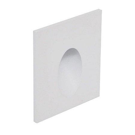 Balizador de parede de embutir 0,75W 2700K 80LM Interlight