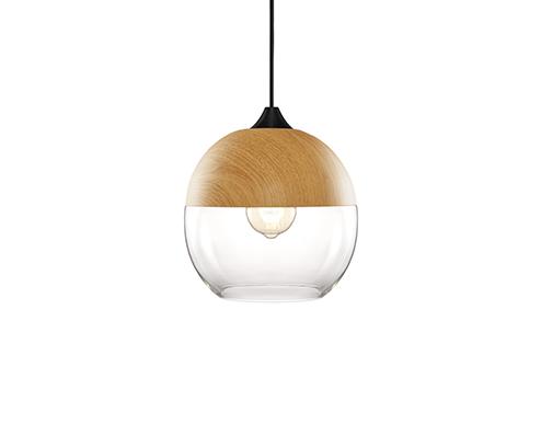 Pendente em vidro e madeira - 5141 Mart Collection