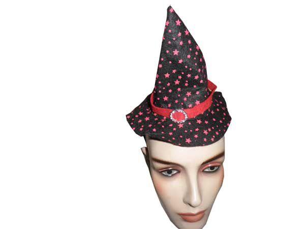 Adereço de Halloween Tiara Chapéu de Bruxa 1 Un - Catelândia