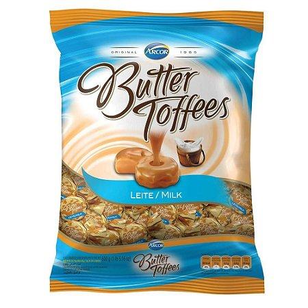 Bala Caramelo com Recheio de Leite Butter Toffees 600g - Arcor