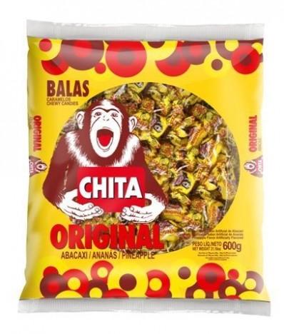 Bala Chita Mole Mastigável Original Abacaxi 600g Cory - Catelândia