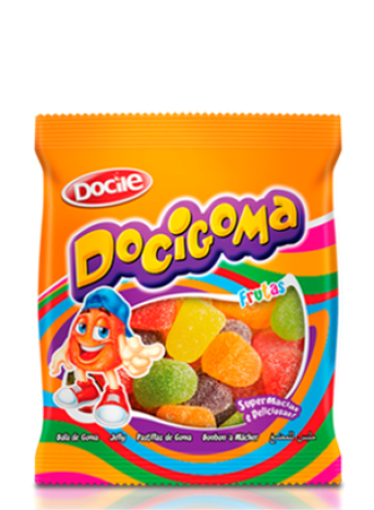 Bala de Goma Docigoma Display com 30 Pacotinhos de 20g cada - Docile