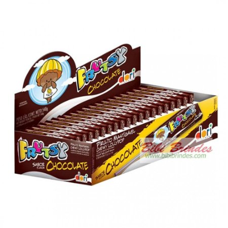 Bala Mastigável Frutsy Sabor Chocolate tipo Stick 50 Un 350g - Dori