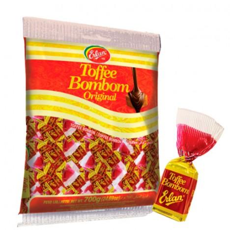 Bala Toffee Bombom Coberta com Chocolate ao Leite 600 g - Catelândia
