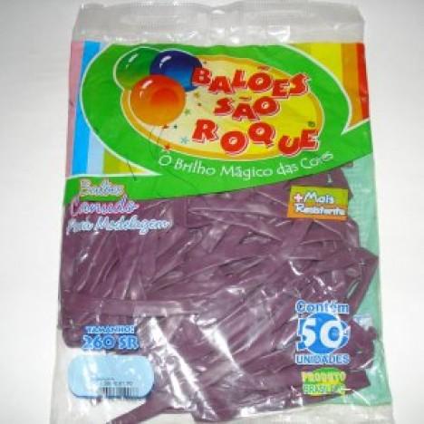 Balão Canudo Para Modelagem Purpura São Roque