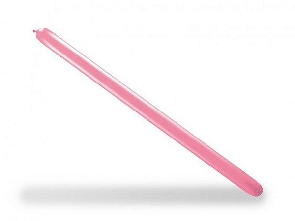 Balão Canudo Para Modelagem Rosa Pink 50 Un - São Roque