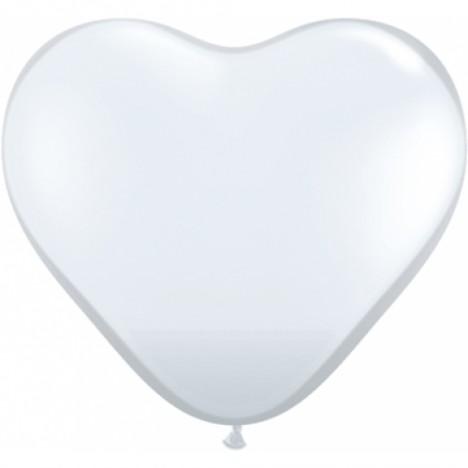 Balão Coração Branco 20 Un - São Roque