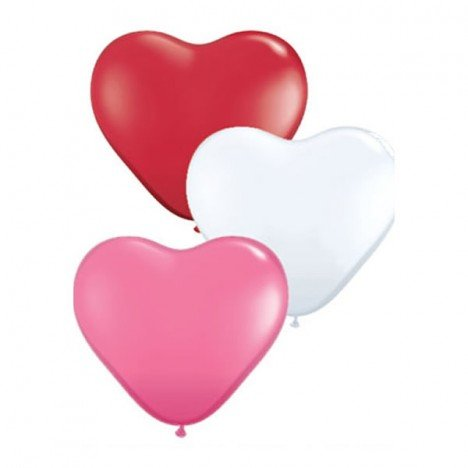 Balão Coração Cores Sortidas 50 Un - São Roque