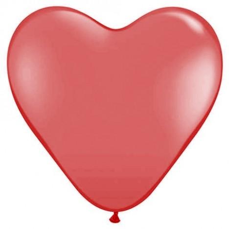Balão Coração Grande Vermelho 20 Un - São Roque