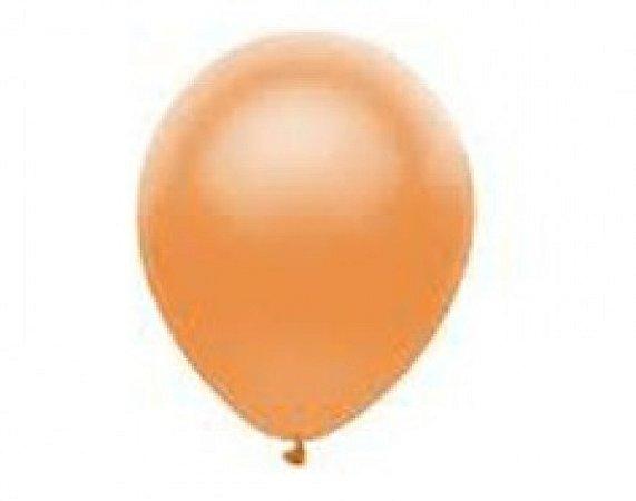 Balão Série Imperial Laranja Pessego n° 05 Pacote 50 Un - São Roque
