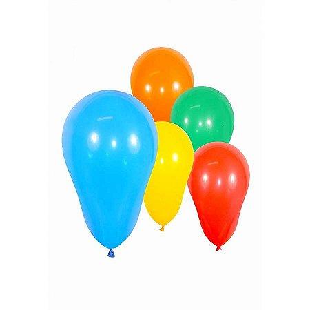 Balão Zerinho Sortidos com 100 Un - São Roque