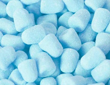 Balas de Goma Macias e Deliciosas Azul Frozen 500 g - Catelândia