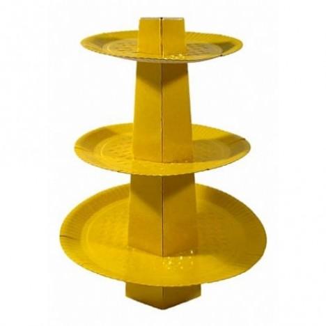 Baleiro 3 Andares para Bala de Coco Amarelo 1 Un - Catelândia