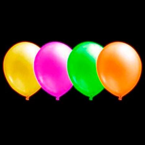 Balões de Neon Sortidos 20 Un - Iluminados se Submetidos à Luz Negra - Catelândia