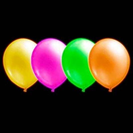 Balões Neon Sortidos 100 Un Iluminados Submetidos Luz Negra - Catelândia