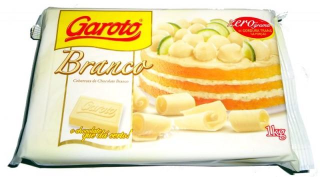 Barra de Chocolate Cobertura Branco 1 Kg (Para Derreter) - Garoto
