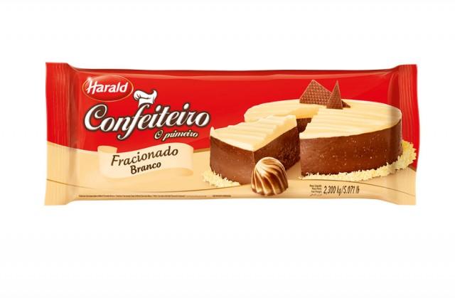 Barra de Chocolate Confeiteiro Branco 2,3 Kg - Harald
