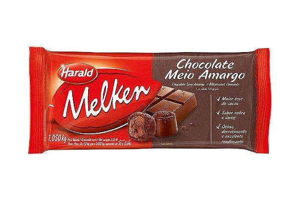 Barra de Chocolate Melken Dark Amargo 1 Kg - Harald