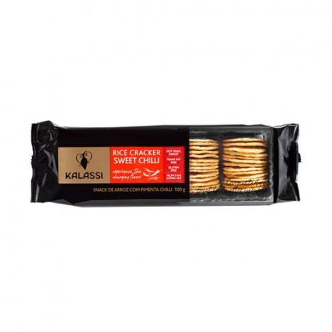Biscoito Salgado Tailandês Kalassi Rice Cracker Sweet Chilli - 100g