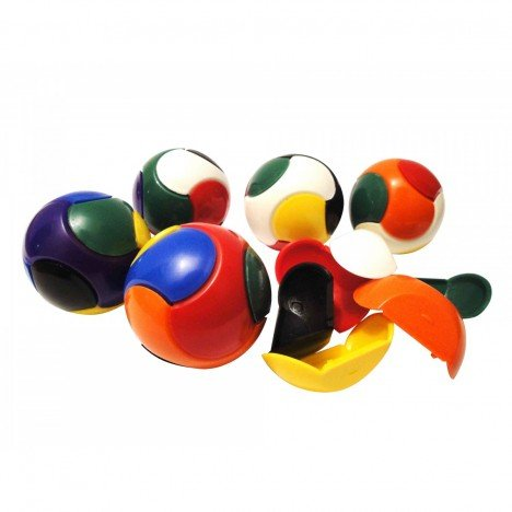 Bola Quebra Cabeça Monta e Desmonta Estimula Coordenação Motora - 12 Un