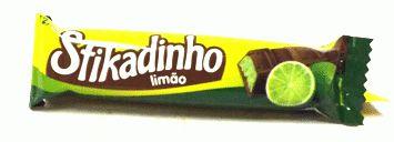Bombom de Chocolate Recheado com Mousse de Limão Stikadinho 30 Un - Catelândia