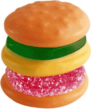 Burger Sour  Goma Ácida Açucarada Tipo Gelatina 24 UN - Gummy Zone