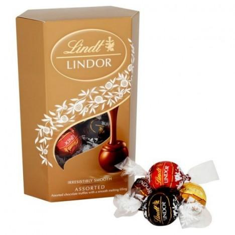 Caixa de Bombons - Chocolate Suíço Lindor Assorted 200g - Lindt