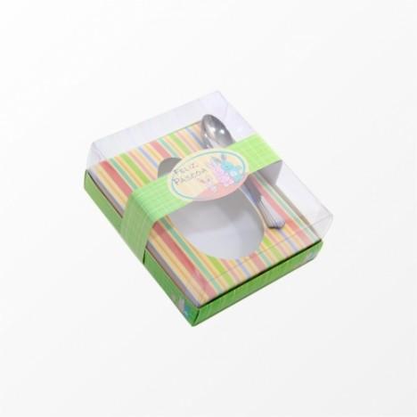 Caixa de Páscoa para Ovo de Colher de 500 Gramas - Leve Grátis 01 Colher