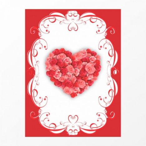 Cartão P/ Mensagens Coração para Cestas e Presentes 01 Un - Catelândia