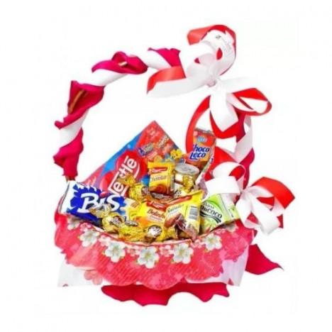 Cesta De Chocolate Para Presente De Aniversário, Diversos Itens