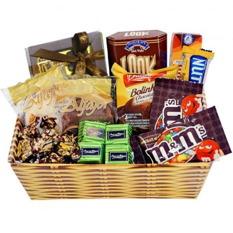 Cesta De Chocolates Finos em Oferta - Catelândia