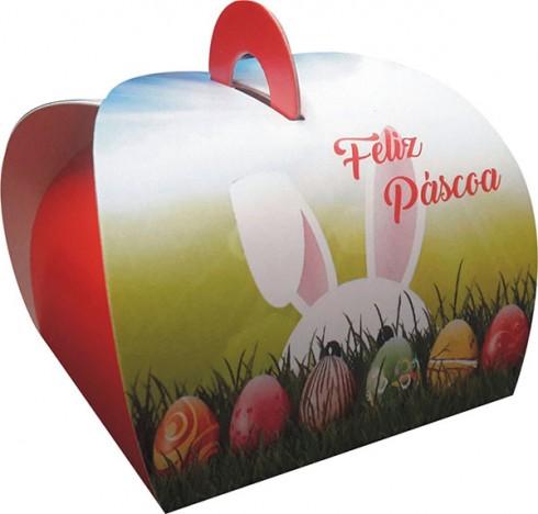 Cesta de Páscoa Presente para Família com Alimentos e Chocolates
