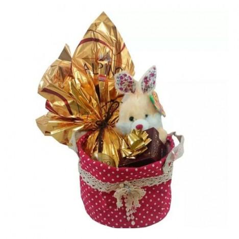 Cesta De Páscoa, Ovo de Páscoa Alpino Nestlé, Bombons Ferrero Rocher