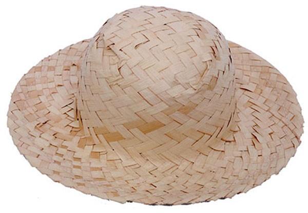Chapéu de Palha 7cm Ideal para Lembrancinhas 10 Un - Catelândia