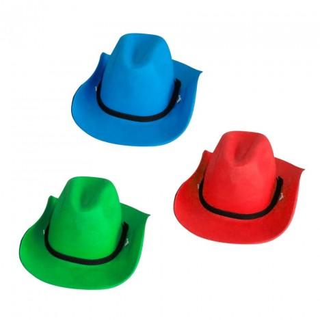 Chapéu E.V.A Cowboy para Festas 05 Unidades Cores Diversas - Catelândia