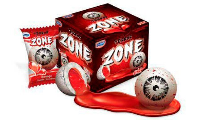 Chicle Zone Olhos do Terror 40 Un - Catelândia