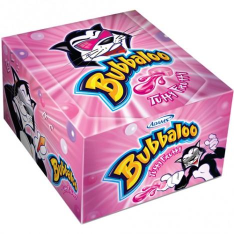 Chiclete de Bola Bubbaloo Tutti-Frutti com Recheio Líquido 60 Un - Adams