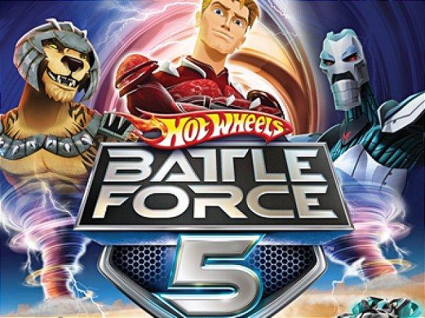 Chiclete de Bola Hot Wheels Battle Force 5 Sabor Menta Polar 100 Un - Buzzy