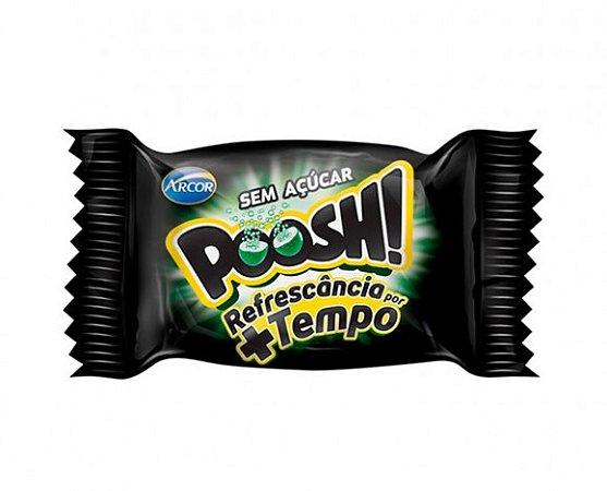 Chicletes Poosh! Recheio Líquido Sabor Hortelã Sem Açúcar 60 Un - Catelândia