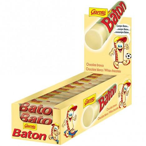 Chocolate Baton Branco Caixa com 30 Batons de 16g 480g - Garoto