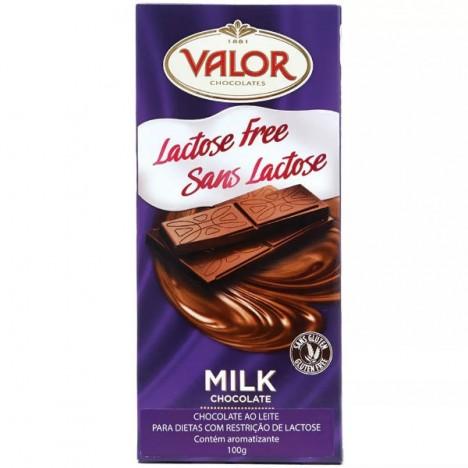 Chocolate Espanhol Valor Ao Leite Sem Lactose E Glúten - 100g