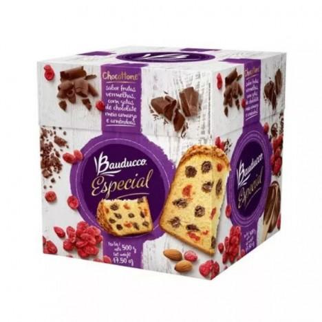 Chocottone Especial - Frutas Vermelhas - Amêndoas - Gotas Chocolate - Bauducco - Catelândia