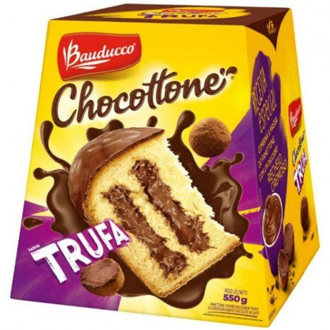 Chocottone Trufa de Chocolate 550g - Bauducco - Catelândia