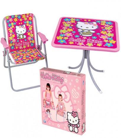 Conjunto Mesa e Cadeira Hello Kitty - Catelândia