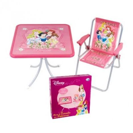 Conjunto Mesa e Cadeira Princesas Disney - Catelândia