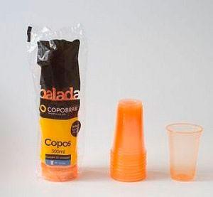 Copo Laranja Brilha na Luz Negra ou Neon 25 Un 300 ml - Catelândia