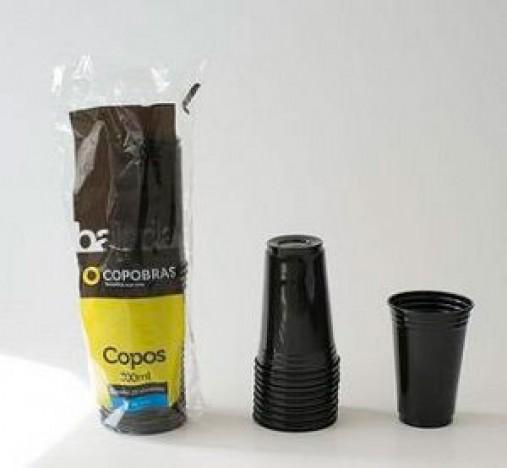 Copo Preto Brilha na Luz Negra ou Neon 25 Un 300 ml - Catelândia