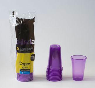 Copo Roxo Brilha na Luz Negra ou Neon 25 Un 300 ml - Catelândia