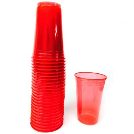 Copo Vermelho Brilha na Luz Negra ou Neon 25 Un 300 ml - Catelândia